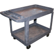 American Forge & Foundry 962 - 2-Shelf Polypropylene Shop Cart