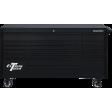 """Extreme Tools DX722117RCMBBK - DX Series 72"""" 17 Drawer 21"""" Deep Roller Cabinet - Matte Black w/Black Drawer Pulls"""