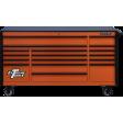 "Extreme Tools DX722117RCORBK - DX Series 72"" 17 Drawer 21"" Deep Roller Cabinet - Orange w/ Black Drawer Pulls"