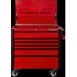"Extreme Tools EX4106TCRDBK - 41"" 6 Drawer Tool Cart - Red w/ Black Pulls"