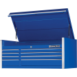"""Extreme Tools RX552508CHBL - RX-Series 55"""" 8-Drawer Top Chest - Blue"""