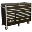 """Extreme Tools RX552512RCBK - RX-Series 55"""" 12-Drawer Roller Cabinet - Black"""