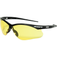 Jackson 50002 - Safety Glasses with Black Frame and Amber Lens