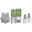 7 Piece Flexzilla High Flow Coupler And Plug Kit - 3/8 in. NPT