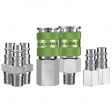 7 Piece Flexzilla Pro High Flow Coupler And Plug Kit - 1/4 in. NPT