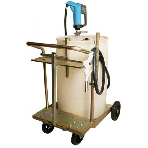 55 gallon def mobile hand pump drum cart system