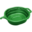 Lisle 17982 - 4.5 Gallon Oval Drain Pan - Green