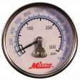 """Milton 1192 - 1/4"""" Pressure Gauge - 0-300 PSI - Center Mount"""