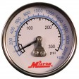 "1/4"" Pressure Gauge - 0-300 PSI - Center Mount"