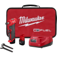 Milwaukee 2485-22 - M12 FUEL 12-Volt Lithium-Ion Brushless Cordless 1/4 in. Right Angle Die Grinder Kit w/ (2) 2.0Ah Batteries