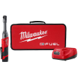 Milwaukee 2559-21 - M12 FUEL 12-Volt Lithium-Ion Brushless Cordless 1/4 in. Extended Reach Ratchet Kit with One 2.0 Ah Batteries