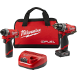 "Milwaukee 2596-22 - M12 FUEL Combo 1/2"" Drill; 1/4"" Hex Impact Driver"