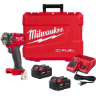 """Milwaukee 2855-22 - M18 FUEL 1/2"""" Compact Impact Wrench w/ Friction Ring Kit"""