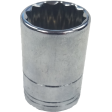 "17mm 12PT Chrome Socket - 3/8"" Drive"