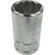 "15/16"" 12PT Chrome Socket - 1/2"" Drive"