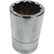 "22mm 12PT Chrome Socket - 1/2"" Drive"