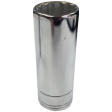 "SK Hand Tool 44713 - 14mm 12PT Deep Chrome Socket - 1/4"" Drive"