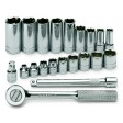 21PC 6PT Standard and Deep Socket Set