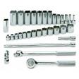 SK Hand Tool 4532 - 32PC 6PT Standard and Deep Socket Set