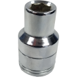 "SK Hand Tool 48210 - 10mm 6PT Chrome Socket - 1/2"" Drive"