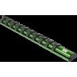 "SK Hand Tool M1410 - 1/4"" Dr. 10"" Magnetic Socket Rail"