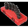 "1/2"" Dr 7pc Metric Universal Impact Socket Set"