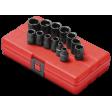 "Sunex 3675 - 3/8"" Dr 13pc 12PT Metric Impact Socket Set"