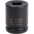 """Sunex 417MSS - 3/4"""" Dr 17mm Double Square Impact Socket"""