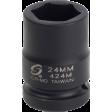 "Sunex 424M - 24mm 6PT Impact Socket - 3/4"" Drive"