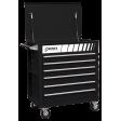 Full Drawer Professional Duty Service Cart - Black