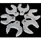 "1/2"" Dr 6pc SAE Jumbo Crowfoot Wrench Set"